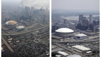 New Orleans und der Hurrikan Katrina: Vorher-Nachher-Fotos der Katastrophe