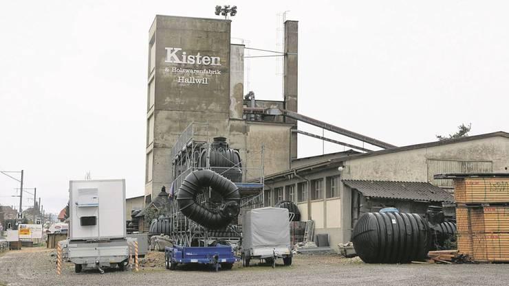 Auf dem Areal der ehemaligen Kistenfabrik in Hallwil ist eine grosse Landi vorgesehen.