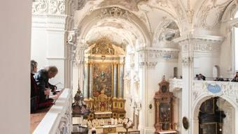 In der Jesuitenkirche sangen der Kammerchor und Partnerchöre Rosinis «Petite Messe solennelle».