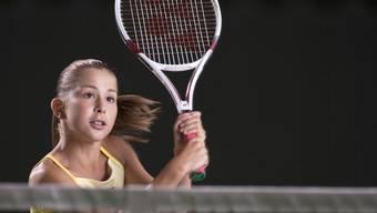 Früh übt sich.... Aufnahme der heute 20-jährigen Schweizer Tennisspielerin Belinda Bencic aus dem Jahr 2009. (Archiv)