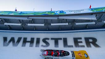 Hervorragender 4. WM-Platz für das junge Schweizer Bobteam mit Michael Vogt, Alain Knuser, Simon Friedli und Sandro Michel