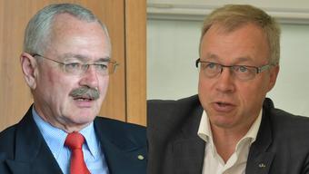 Der abtretende Präsident Hans Kuhn (links) und sein Nachfolger Hansjörg Stöckli.