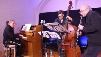 Die Formation Ost-West-Inspiration mit (von links) Felix Huber, Heiri Känzig und Witek Kornacki nimmt die Gäste mit auf eine musikalische Reise.