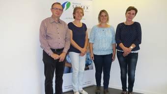Das Team der Spitex Suhrental Plus (von links): Daniel Weber, Laura Kyburz, Babette Bernet und Sonja Morgenthaler.