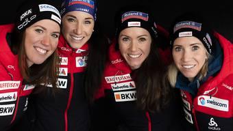 Kein Exploit: Die Schweizer Frauenstaffel belegte an der WM in Antholz den 6. Platz