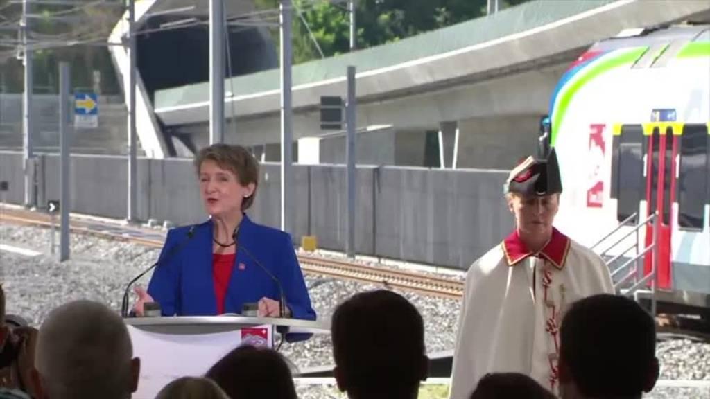 Der Ceneri-Basistunnel ist offiziell eröffnet