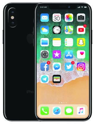 So soll das neuste iPhone aussehen Kein«Home-Button» mehr, dafür ein grösserer Bildschirm.