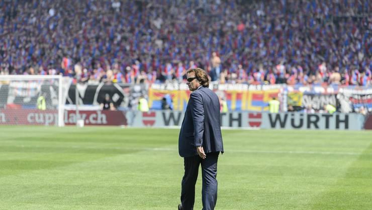 Sion-Präsident Constantin war genervt von den Interaktionen seiner Fans.