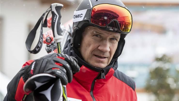 Armin Assinger liebt den Skisport und trägt seine Begeisterung als TV-Experte bis in die Wohnzimmer der Zuschauer.Klaus Pressberger/Keystone