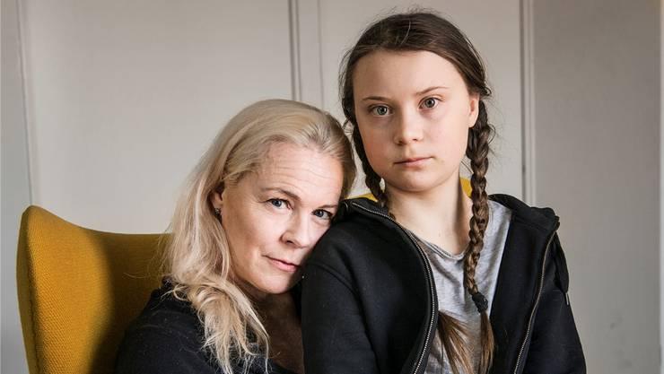 Ihre erste Krise war nur familienintern, ihre zweite Krise betrifft die ganze Erde: Greta Thunberg mit ihrer Mutter Malena Ernman.