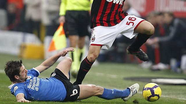 Rijat Shala stieg mit Novara in die Serie A auf.