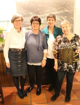 Die Jubilarinnen:Elisabeth Brem, Elsbeth Baumann, Barbara Liechti, Theres Fasel