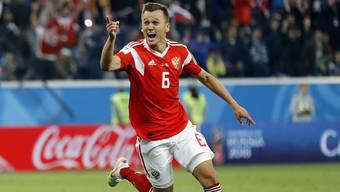 Denis Cheryshev erzielte das zweite Tor beim 3:1-Sieg der Russen gegen Ägypten.