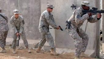 Angriffsübung von US-Soldaten im Irak (Archiv)