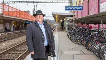 Peter Hodel kämpft für die Modernisierung des Bahnhofs Schönenwerd.