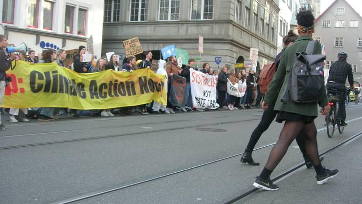In 2019 kam es immer wieder zu Demonstrationen für die Ausrufung eines Klimanotstands, so beispielsweise hier in Zürich. Eine Kommission nahm nun Stellung dazu.