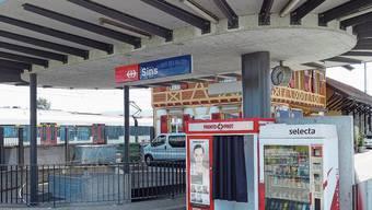 Das Gebiet zwischen Bahnhof und Zentrum Sins wird als Bahnhofpark aufgewertet.