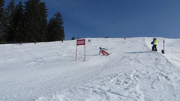 Voller Einsatz auf den Skiern
