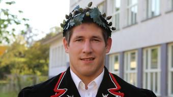 David Widmer holte am Nordwestschweizer Schwingfest einen Kranz.