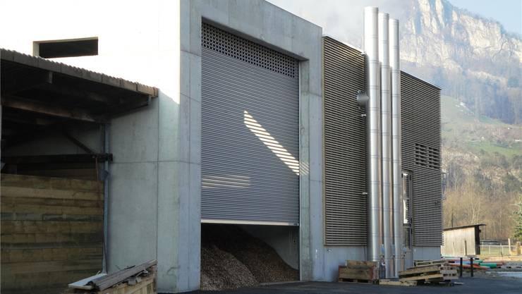 Die neue Heizzentrale steht in der Brüggmatt auf dem Areal der Bürgergemeinde. ARO