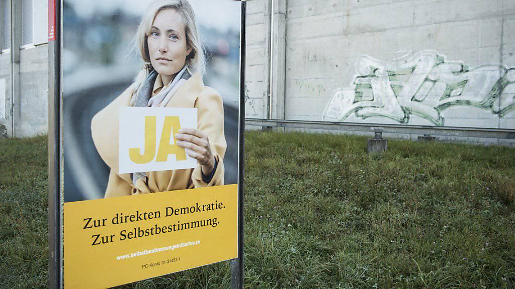 Werbeplus dank Selbstbestimmungsinitiative: Im November wurde unter anderem dank der Abstimmung soviel Werbung geschaltet wie sonst in keinem Monate 2018. (Archiv)