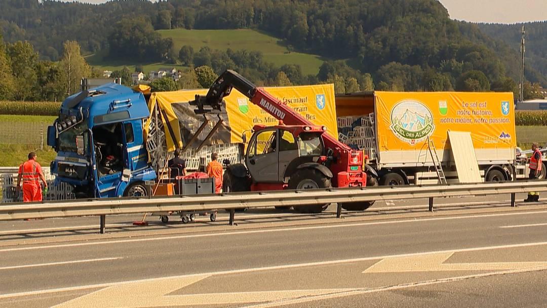 Reiden (LU): Lastwagenunfall fordert einen Verletzten
