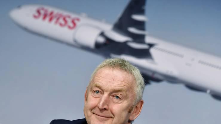 Swiss-Chef Thomas Klühr kann sich über mehr Passagiere im Oktober freuen. (Archiv)