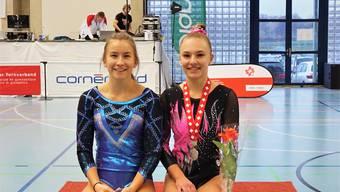 Aline Nyffenegger und Sina Kaufmann, die Vize-Schweizer-Meisterin.