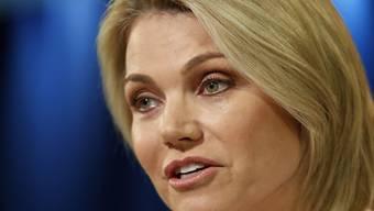 Will doch nicht US-Botschafterin bei der Uno werden: Heather Nauert, frühere TV-Moderatorin und derzeitige Sprecherin des US-Aussenministeriums. (Archivbild)