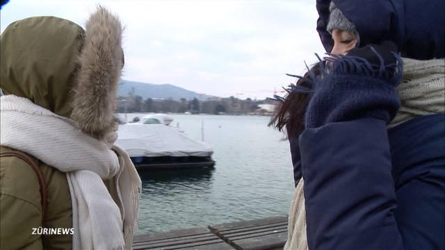 Tiefkühl-Wetter lässt Zürcher schlottern