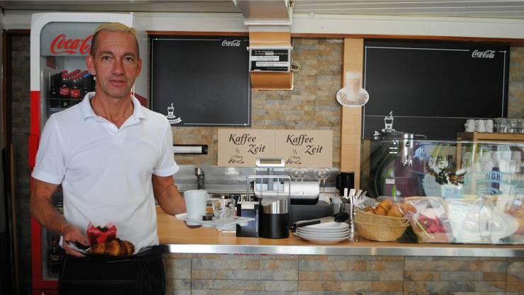 Wirt Patrick Bacher (49) möchte sein «Kafi Mokka Lounge» tagsüber als Bistro und abends als Lounge mit Musik betreiben. Nadine Böni