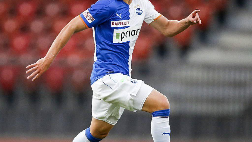 Stürmer Florian Kamberi geht in dieser Saison nicht mehr für die Grasshoppers, sondern für den Karlsruher SC in der 2. Bundesliga auf Torejagd
