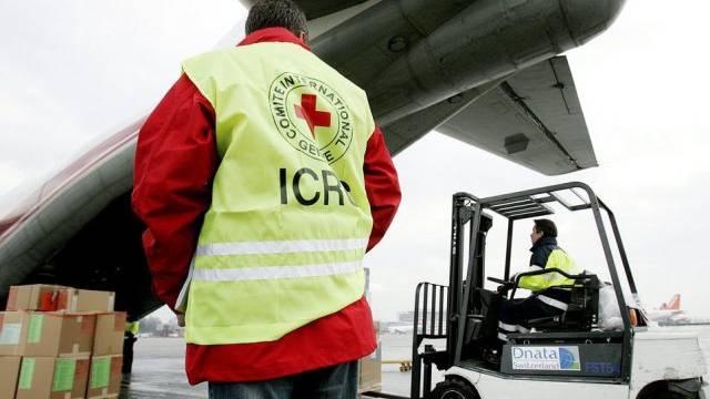 Verladen von IKRK-Hilfsgütern in Genf (Archiv)