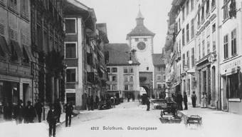 Die Gurzelngasse um 1900