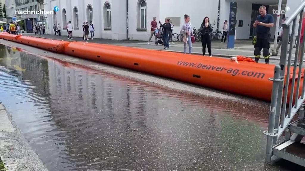 Hochwasserlage Luzern