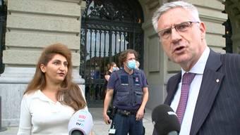 """Thumb for 'SVP-Glarner greift Grüne Arslan an: """"Hier herrscht Recht und Ordnung - das gab es in deinem Staat nicht!""""'"""