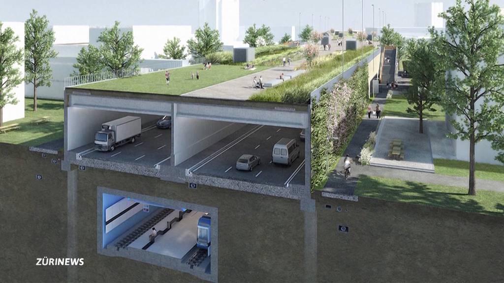 11,4 Millionen Franken mehr als geplant: Schwamendinger Autobahndeckel soll grüner werden