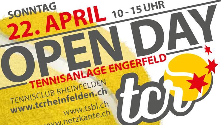 Zwischen 10 Uhr und 15 Uhr werden freie Spielmöglichkeiten, kostenlose Schnuppertrainings und ein «Kids Tennis»-Parcours im Rheinfelder Engerfeld geboten.