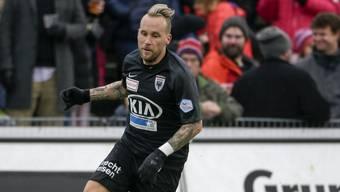 Markus Neumayr sicherte dem FC Aarau das Unentschieden gegen Vaduz.
