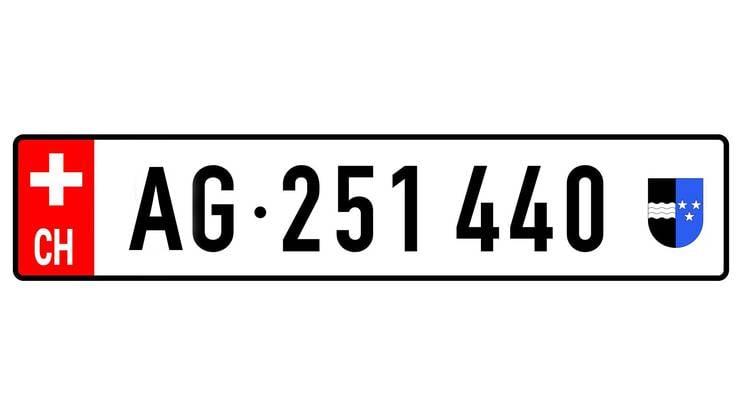 Der Vorschlag des Initiativkomitees: So könnte das neue Nummernschild dereinst aussehen.