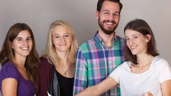 Martina Bühler, Franziska Luginbühl, Armin Herbsthofer und Alexandra Scherrer (v. l. n. r.) fördern Newcomer-Künstler.