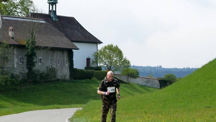 Erwin Haas hatte sich bereits beim Schloss Waldegg einen grossen Vorsprung herausgelaufen.