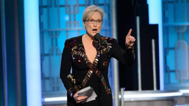 Meryl Streep hat in ihrer Rede bei der Verleihung der Golden Globe Awards den zukünftigen US-Präsidenten Donald Trump heftig attackiert.