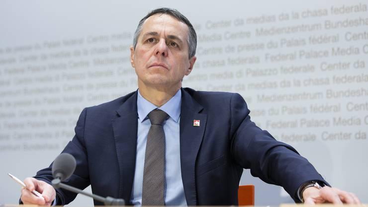 Bundesrat Ignazio Cassis tauschte sich mit seinen Amtskollegen aus Berlin, Wien, Vaduz und Luxemburg aus.