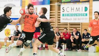 Der TV Möhlin – im Bild Captain Sebastian Kaiser – schliesst die NLB-Saison auf Rang drei ab.