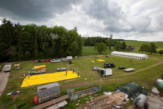 Aufbau Rocknacht 2012 Tennwil