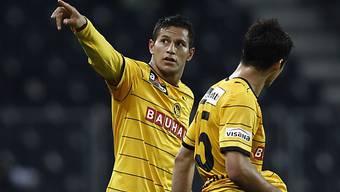 Der Berner Raul Bobadilla nach seinem Treffer zum 1:0