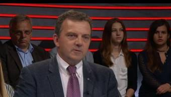 Hatte keinen leichten Stand – Walter Wobmann (SVP) in der Klima-«Arena».