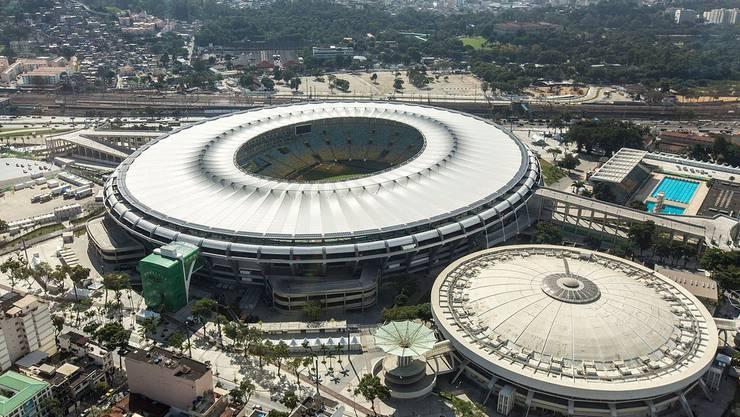 Das Maracana-Stadion aus der Luft - ein Prachtsbau!