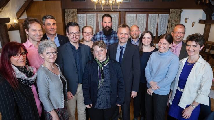 Mannschaftsfoto: Das Wahlteam der BDP Aargau will, wie die Berner Young Boys, in letzter Minute zum Erfolg kommen.